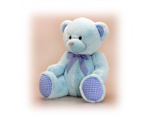Peluche Ours Baby Bleu Taille 25cm