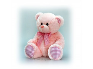 Peluche Ours Baby Rose Taille 25cm