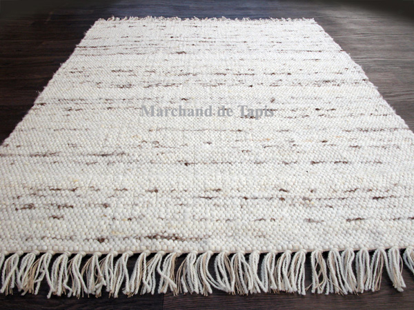 berberina 170cm x 240cm naturel mix tapis laine et jute flokos marchand de tapis. Black Bedroom Furniture Sets. Home Design Ideas