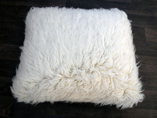 Coussin Flokati 70cmx70cm pure laine vierge - 1500gr