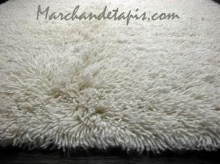 Tapis SHAGGY pure laine vierge 200cm x 200cm - 2100gr