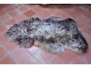 Peau de mouton UK. Mèches foncées 110-120cm C