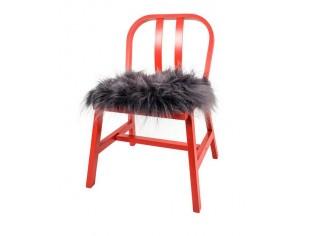 Peau de mouton carré, assise de chaise