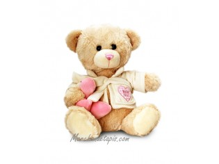 Peluche Ours Bain Rose