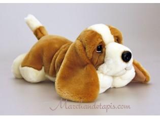 Peluche de chien Basset Hound, 35cm