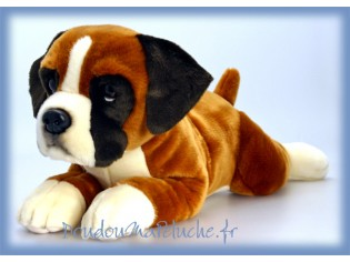Peluche de chien Boxer Mischief, taille 35cm