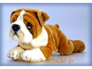Peluche de chien Bulldog, Butch, taille 50cm