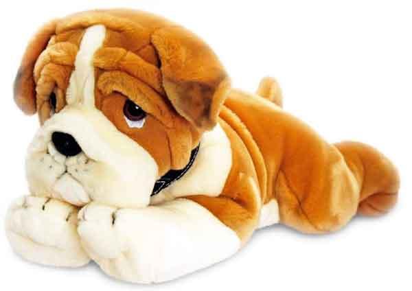 peluche de chien bulldog taille 90cm belle peluche de grande qualit marchand de tapis. Black Bedroom Furniture Sets. Home Design Ideas