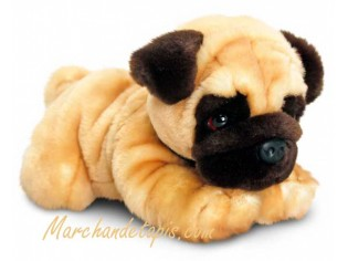 Peluche de chien Carlin, taille 35cm