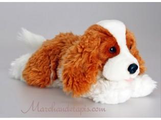 Peluche de chien Spaniel Marron, taille 35cm