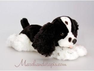 Peluche de chien Spaniel Noir, taille 35cm