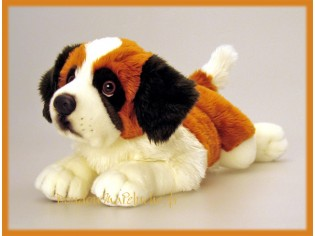 Peluche de chien St Bernard, taille 35cm