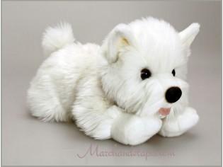 Peluche de chien Westie, Angus, taille 35cm