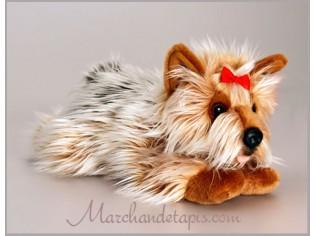 Peluche de chien Yorkshire, taille 35cm