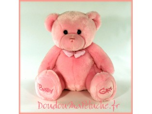 Peluche Ours Baby Girl Taille 38cm