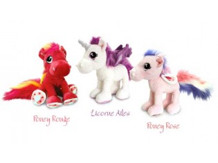 Peluche Poney Rouge - Taille 30cm