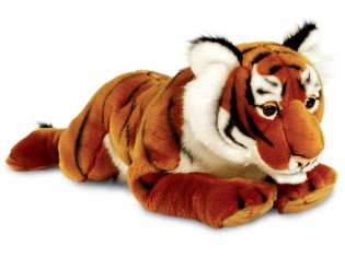 Peluche tigre couché 58cm
