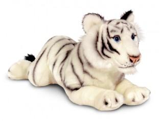 Peluche tigre blanc couché 46cm