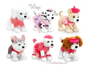 Peluche chien Wags 3 - Taille 30cm