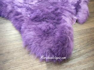 Peau de mouton Lavande 110-120cm Poils courts