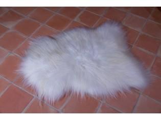 Peau de mouton, Blanc naturel 120-130cm de long