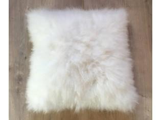 Coussin Cachemire 40cm x 40cm Blanc