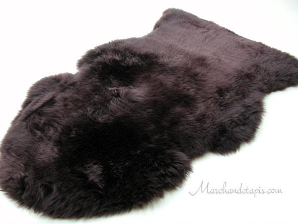 peau de mouton mrinos australie chocolat une slection. Black Bedroom Furniture Sets. Home Design Ideas