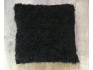 Coussin Cachemire 40cm x 40cm Noir