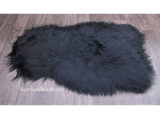 Peau de mouton. Noire Marron Longueur 100/110cm