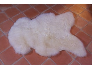 Peau de mouton UK, Blanc naturel 100/110cm de long
