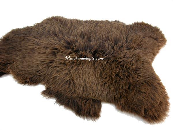 peau de mouton uk01 marron rustique naturel origine. Black Bedroom Furniture Sets. Home Design Ideas