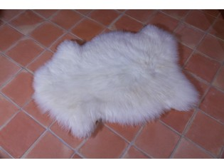Peau de mouton UK, Blanc naturel 110/120cm de long