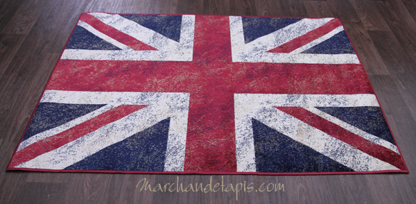 tapis pop drapeau anglais joli tapis en viscose pour une d co anglaise s lection marchand de tapis. Black Bedroom Furniture Sets. Home Design Ideas