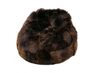 Pouf Peau de Mouton Irlande Marron naturel