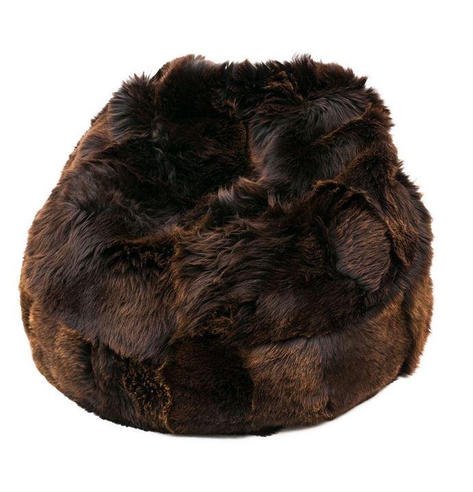 pouf peau de mouton irlande marron marchand de tapis. Black Bedroom Furniture Sets. Home Design Ideas