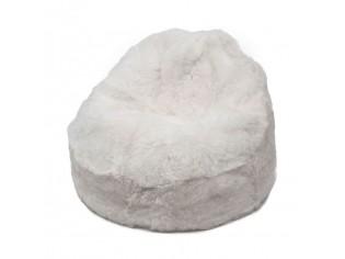 Pouf Peau de Mouton Islande Poils Courts - Blanc naturel