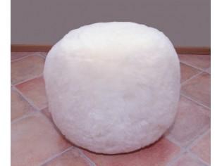 Pouf Peau de Mouton OTTOMAN Blanc poils courts