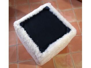 Pouf Cube Blanc