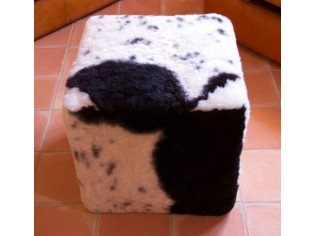 Pouf Cube Noir et Blanc