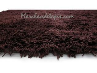 Tapis Shaggy Acrylique 160cm x 230cm Chocolat