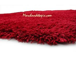 Tapis Shaggy Acrylique 160cm x 230cm Rouge
