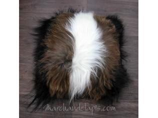 Coussin peau de mouton. Mix Mix poils longs