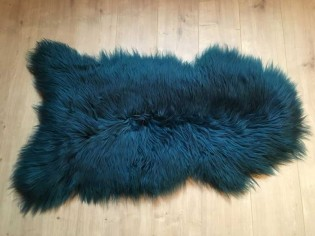 Peau de mouton. SWE-1011-DarkEmeraldGreen - 100-110cm