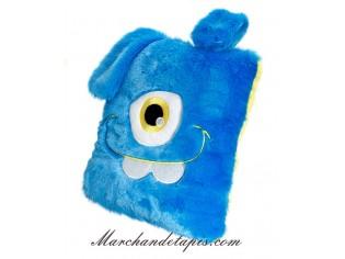 Coussin Peluche Monstre Bleu - Taille 30cm