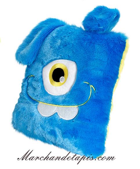 Coussin peluche monstre bleu taille 30cm les podgeys - Coussin de sol grande taille ...