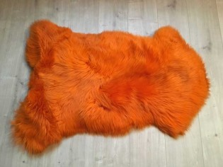 Peau de mouton. Orange - 100-110cm