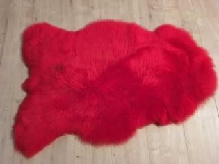 Peau de mouton. Rouge - 100-110cm