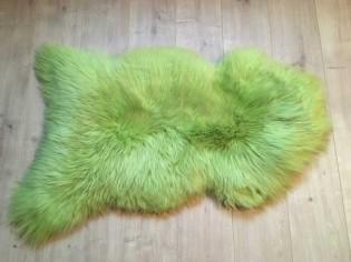 Peau de mouton. Vert pomme - 100-110cm