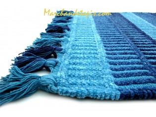 Tapis Bain Gipsy Bleu 60cm x 90cm