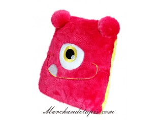 Coussin Peluche Monstre Rose - Taille 30cm